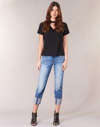 Υφασμάτινα Γυναίκα Jeans 3/4 & 7/8 G-Star Raw LANC 3D HIGH STRAIGHT 11ozsena