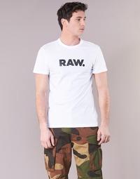 Υφασμάτινα Άνδρας T-shirt με κοντά μανίκια G-Star Raw HOLORN R T S/S Άσπρο