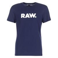 Υφασμάτινα Άνδρας T-shirt με κοντά μανίκια G-Star Raw HOLORN R T S/S Marine