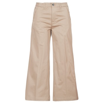 Υφασμάτινα Γυναίκα Παντελόνια Chino/Carrot G-Star Raw BRONSON HIGH LOOSE CHINO 7/8 WMN Beige