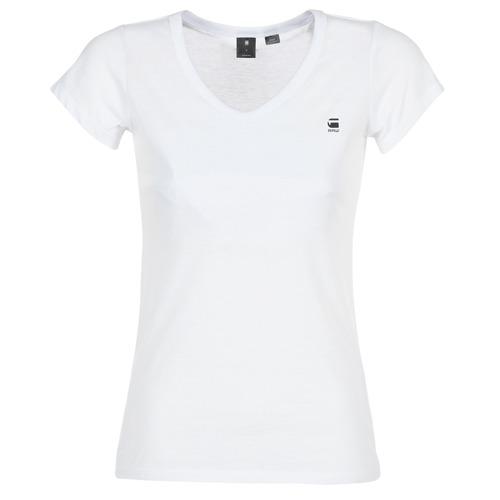 Υφασμάτινα Γυναίκα T-shirt με κοντά μανίκια G-Star Raw EYBEN SLIM V T WMN S/S Άσπρο