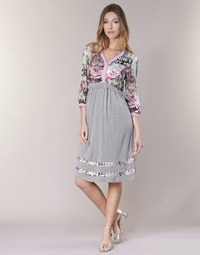 Υφασμάτινα Γυναίκα Κοντά Φορέματα Cream ZAIROCE Grey