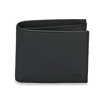 Τσάντες Άνδρας Πορτοφόλια Lacoste MEN'S CLASSIC Black