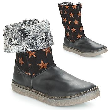 Παπούτσια Κορίτσι Μπότες για την πόλη Achile DUBROVNIK Black / Cuivré