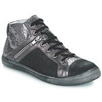 Παπούτσια Κορίτσι Μπότες για την πόλη GBB KAMI Vts / Μαυρο-ασημι / Dpf / Basket