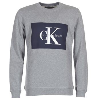 Υφασμάτινα Άνδρας Φούτερ Calvin Klein Jeans HOTORO REGULAR Grey