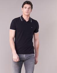 Υφασμάτινα Άνδρας Πόλο με κοντά μανίκια  Calvin Klein Jeans PAUL 2 SLIM Black
