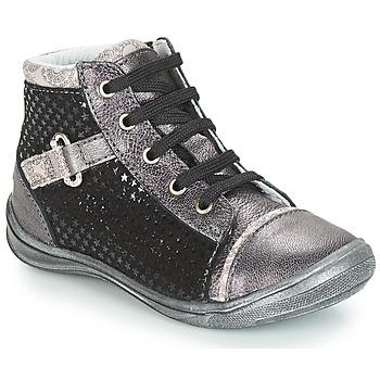 Παπούτσια Κορίτσι Ψηλά Sneakers GBB ROMIE Black / Grey