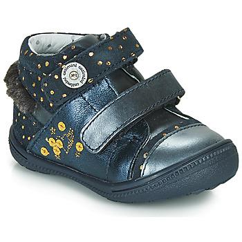 Παπούτσια Κορίτσι Μπότες Catimini ROSSIGNOL Marine / Gold