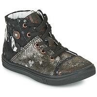 Παπούτσια Κορίτσι Ψηλά Sneakers Catimini ROUSSEROLLE Black / Gold