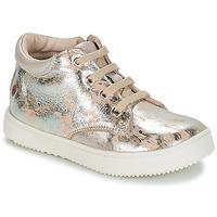 Παπούτσια Κορίτσι Ψηλά Sneakers GBB SACHA Beige / Argenté