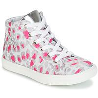 Παπούτσια Κορίτσι Ψηλά Sneakers GBB SERAPHINE Grey / Ροζ / Άσπρο