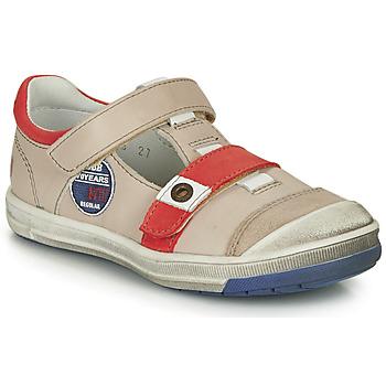 Παπούτσια Αγόρι Μπότες GBB SCOTT Vtc / Μπεζ-κόκκινο / Dpf / Flash