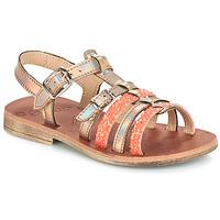 Παπούτσια Κορίτσι Σανδάλια / Πέδιλα GBB BANGKOK Tts / Ροζ / Metal-fluo / Dpf / Coca