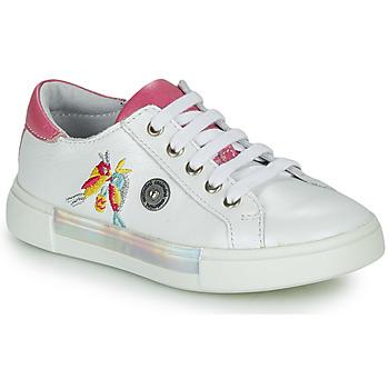 Παπούτσια Κορίτσι Ψηλά Sneakers Catimini SYLPHE Vte / Άσπρο-ροζ / Dpf / Άσπρο