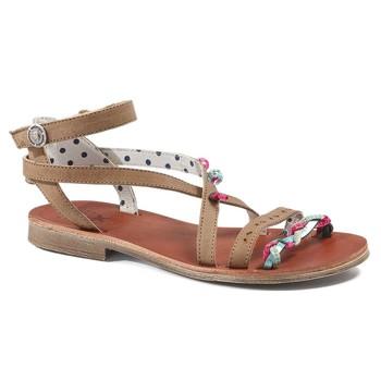 Παπούτσια Κορίτσι Σανδάλια / Πέδιλα Catimini SAPHIR Vte / Καφε-τιρκουαζ / Dpf / Coca