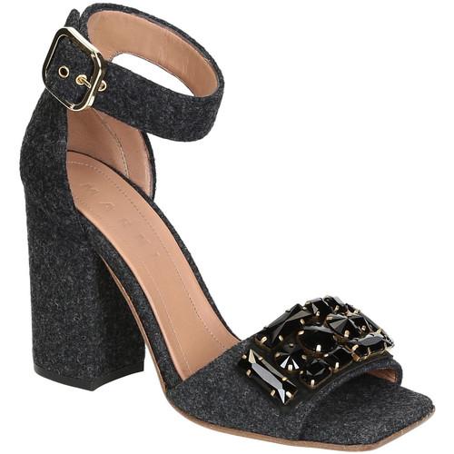 Παπούτσια Γυναίκα Σανδάλια / Πέδιλα Marni SAMSV08C10 TW600 ZI768 Grigio scuro