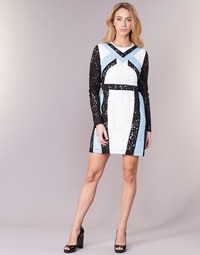 Υφασμάτινα Γυναίκα Κοντά Φορέματα Morgan RLIXI Άσπρο / Black / Μπλέ