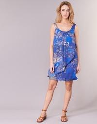 Υφασμάτινα Γυναίκα Κοντά Φορέματα Desigual OFFOELA Μπλέ