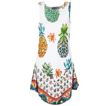 Υφασμάτινα Γυναίκα Κοντά Φορέματα Desigual HOQLER Άσπρο