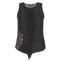 Υφασμάτινα Γυναίκα Αμάνικα / T-shirts χωρίς μανίκια Desigual POALDAOR Black