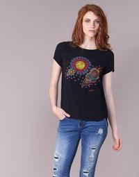 Υφασμάτινα Γυναίκα T-shirt με κοντά μανίκια Desigual NAIKLE Black