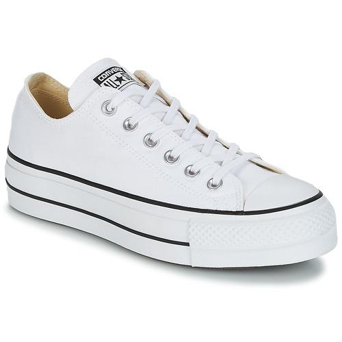Παπούτσια Γυναίκα Χαμηλά Sneakers Converse Chuck Taylor All Star Lift Clean Ox Core Canvas Άσπρο