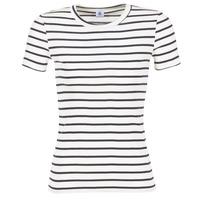Υφασμάτινα Γυναίκα T-shirt με κοντά μανίκια Petit Bateau  Άσπρο / Marine