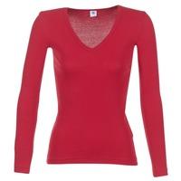 Υφασμάτινα Γυναίκα Μπλουζάκια με μακριά μανίκια Petit Bateau  Red