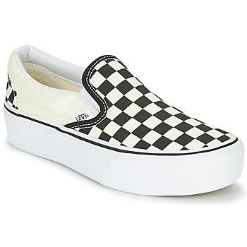 Παπούτσια Γυναίκα Slip on Vans SLIP-ON PLATFORM Black / Άσπρο