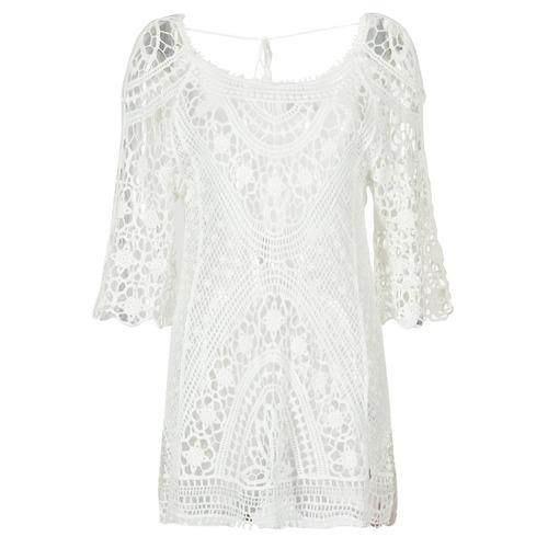 Υφασμάτινα Γυναίκα Κοντά Φορέματα Banana Moon MAGBY DREAMLAND Άσπρο