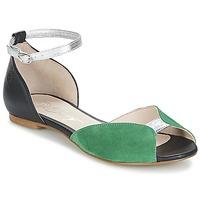 Παπούτσια Γυναίκα Σανδάλια / Πέδιλα Betty London INALI Black / Argenté / Green