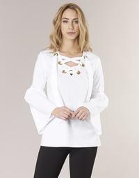 Υφασμάτινα Γυναίκα Μπλούζες MICHAEL Michael Kors POPLIN GRMT LCE UP T. Άσπρο