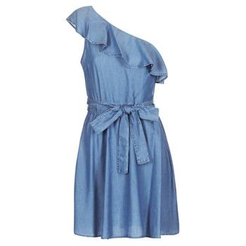 Υφασμάτινα Γυναίκα Κοντά Φορέματα MICHAEL Michael Kors ONE SHLDR RUFFLE DRS Denim