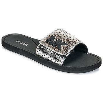 Παπούτσια Γυναίκα σαγιονάρες MICHAEL Michael Kors MK SLIDE Black / Silver