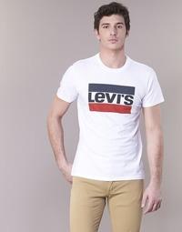 Υφασμάτινα Άνδρας T-shirt με κοντά μανίκια Levi's GRAPHIC SPORTSWEAR LOGO Άσπρο / Μπλέ / Red