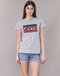 Υφασμάτινα Γυναίκα T-shirt με κοντά μανίκια Levi's THE PERFECT TEE Grey