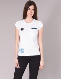 Υφασμάτινα Γυναίκα T-shirt με κοντά μανίκια Philipp Plein Sport SITTIN OVER HERE Άσπρο