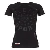 Υφασμάτινα Γυναίκα T-shirt με κοντά μανίκια Philipp Plein Sport FORMA LINEA Black