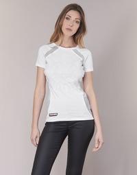 Υφασμάτινα Γυναίκα T-shirt με κοντά μανίκια Philipp Plein Sport FORMA LINEA Άσπρο / Άσπρο