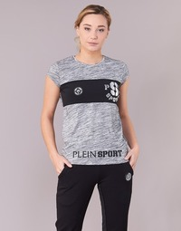 Υφασμάτινα Γυναίκα T-shirt με κοντά μανίκια Philipp Plein Sport THINK WHAT U WANT Grey