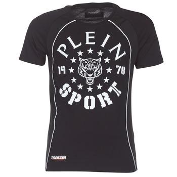 Υφασμάτινα Άνδρας T-shirt με κοντά μανίκια Philipp Plein Sport LIONEL Black / Άσπρο