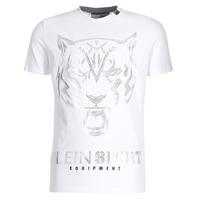 Υφασμάτινα Άνδρας T-shirt με κοντά μανίκια Philipp Plein Sport EDBERG Άσπρο / Silver