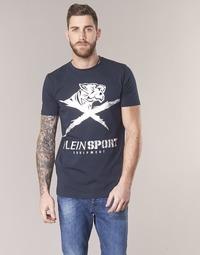 Υφασμάτινα Άνδρας T-shirt με κοντά μανίκια Philipp Plein Sport BORIS Marine / Silver