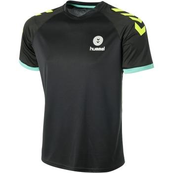 Υφασμάτινα Άνδρας T-shirt με κοντά μανίκια Hummel Maillot  Trophy noir/vert/jaune