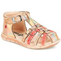 Παπούτσια Κορίτσι Σανδάλια / Πέδιλα GBB PERLE Tts / Ροζ / Metal-fluo / Dpf / Nemo