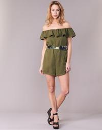 Υφασμάτινα Γυναίκα Κοντά Φορέματα Guess RESPUNNI Kaki