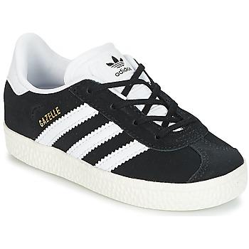 Παπούτσια Παιδί Χαμηλά Sneakers adidas Originals GAZELLE I Black / Άσπρο