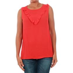 Υφασμάτινα Γυναίκα Μπλούζες Jacqueline De Yong 15148076 JDYPINAR S/L FRILL TOP WVN HIGH RISK RED Rojo