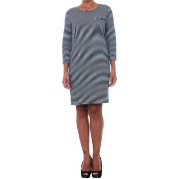 Υφασμάτινα Γυναίκα Κοντά Φορέματα Jacqueline De Yong 15142620 JDYSAXO 3/4 DRESS JRS NIGHT SKY/WHITE Azul marino